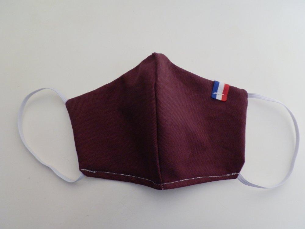 Masque de protection en tissu violet
