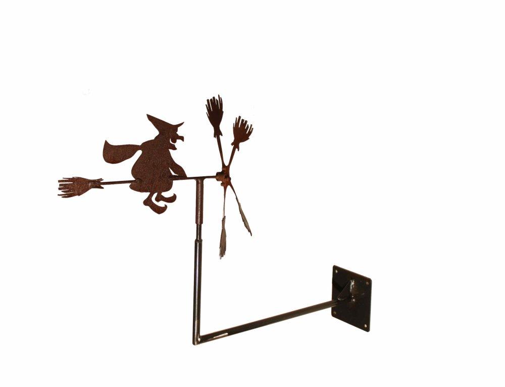 Eolienne sorcière à fixer à un mur
