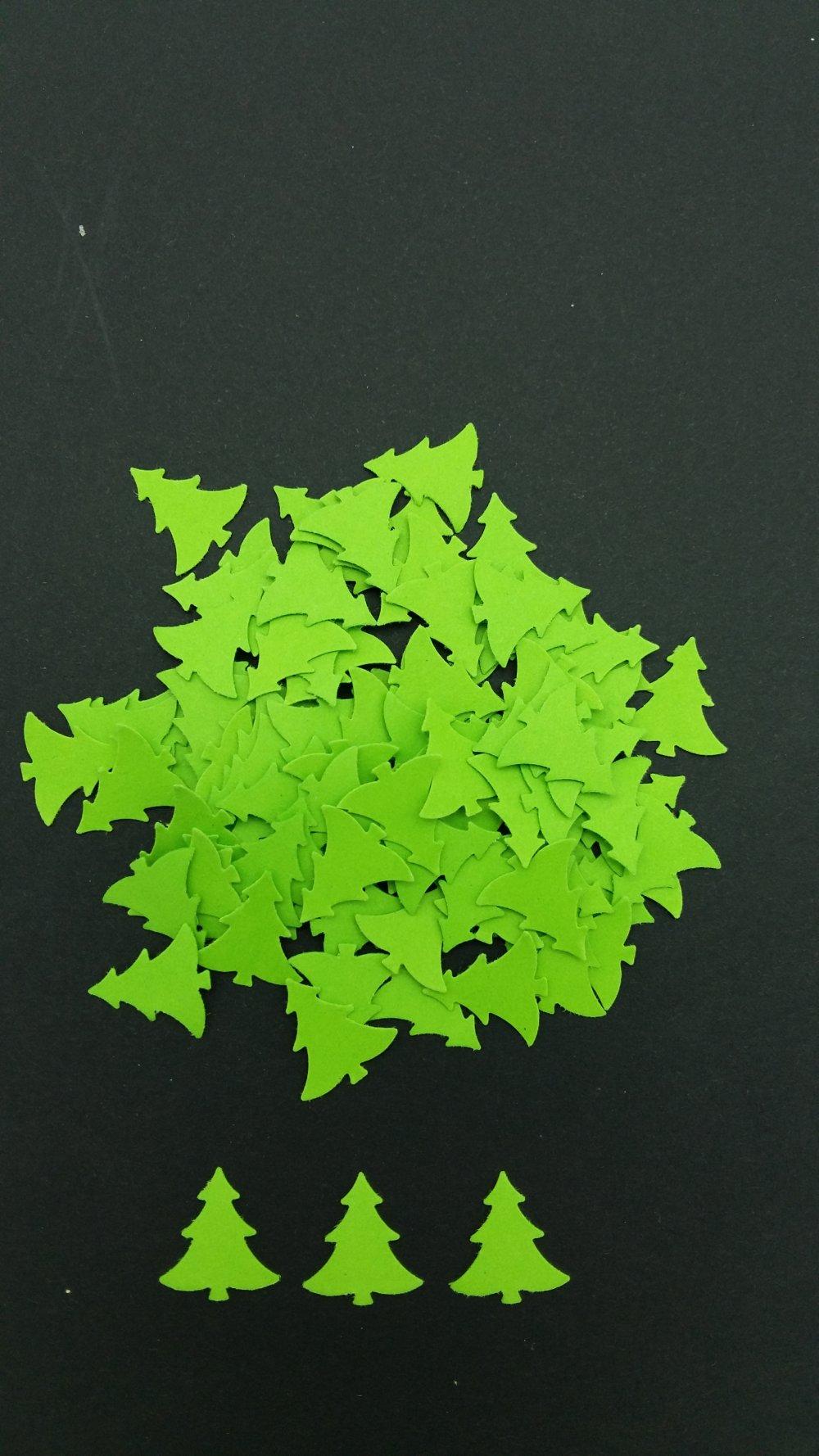 Confettis de table sapin / décoration (sachet de 100 confettis)