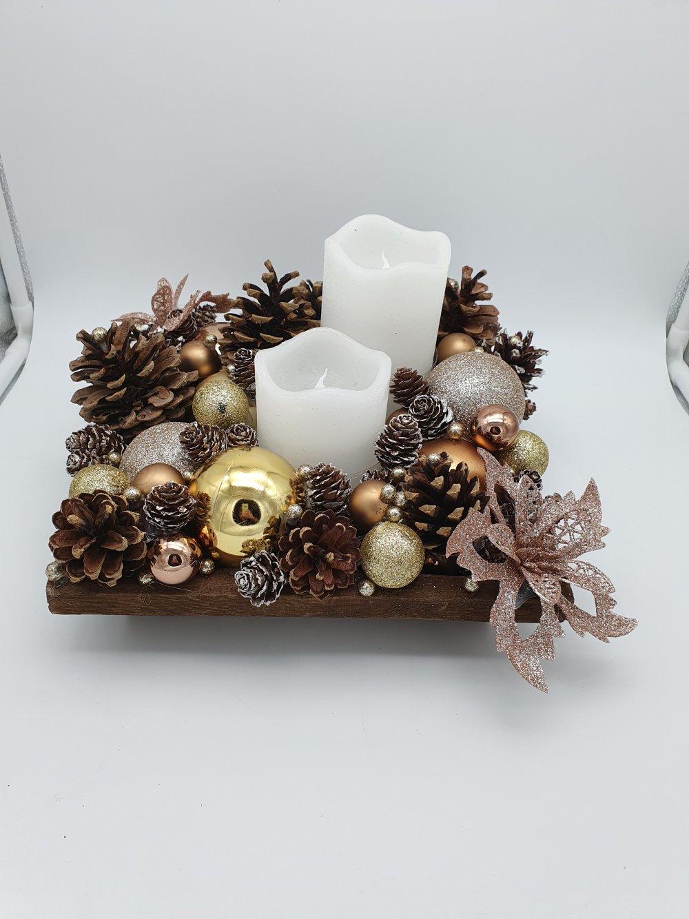Deco De Table Bougie centre de table noël - jour de l'an / décoration de table ou autre avec  bougie led à piles - sapin