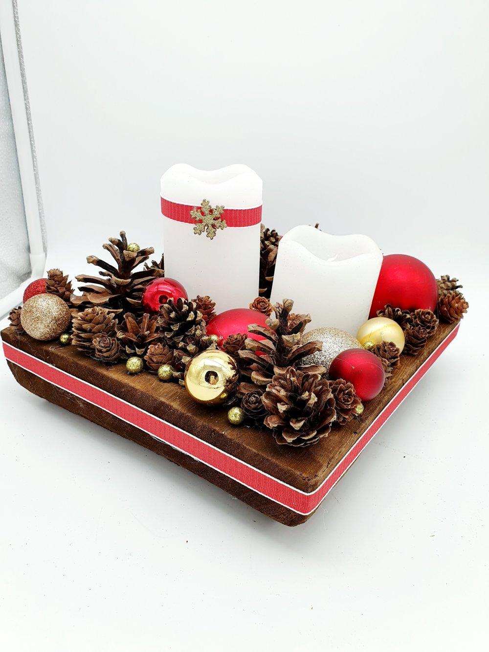 Deco De Table Bougie centre de table noël - jour de l'an / décoration de table ou autre avec  bougie led à piles