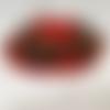 Centre de table noël - jour de l'an / décoration de table ou autre avec bougeoir - pomme de pin et boules et bonhomme de neige