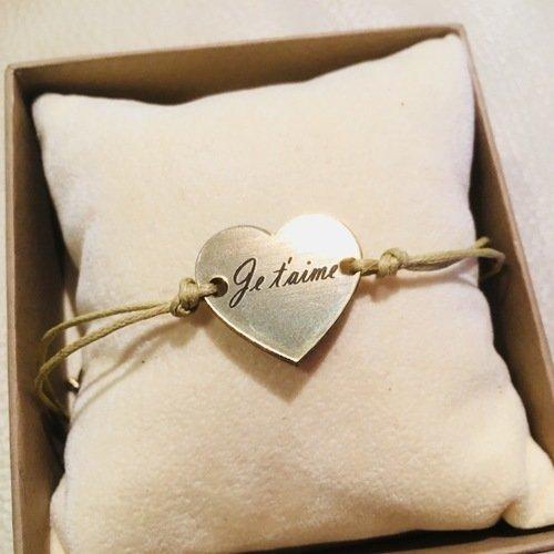 Bracelet coeur je t aime