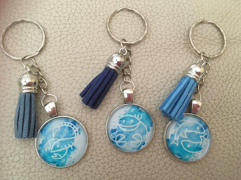 Porte clés signe astrologique gemeaux