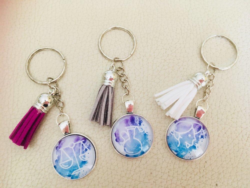 Porte clés signe astrologique poisson