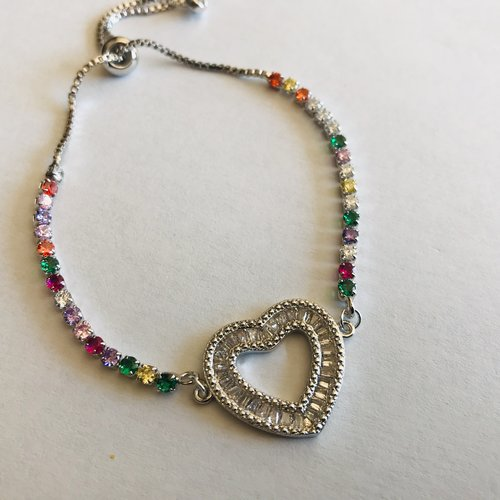 Bracelet avec serrage moderne cœur