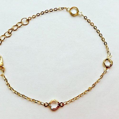 Bracelet doré élégance cheville