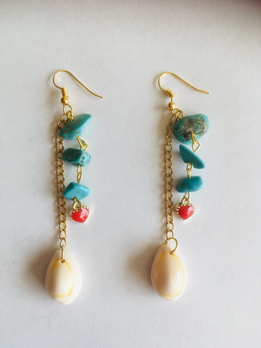 Boucles d oreille coquillage