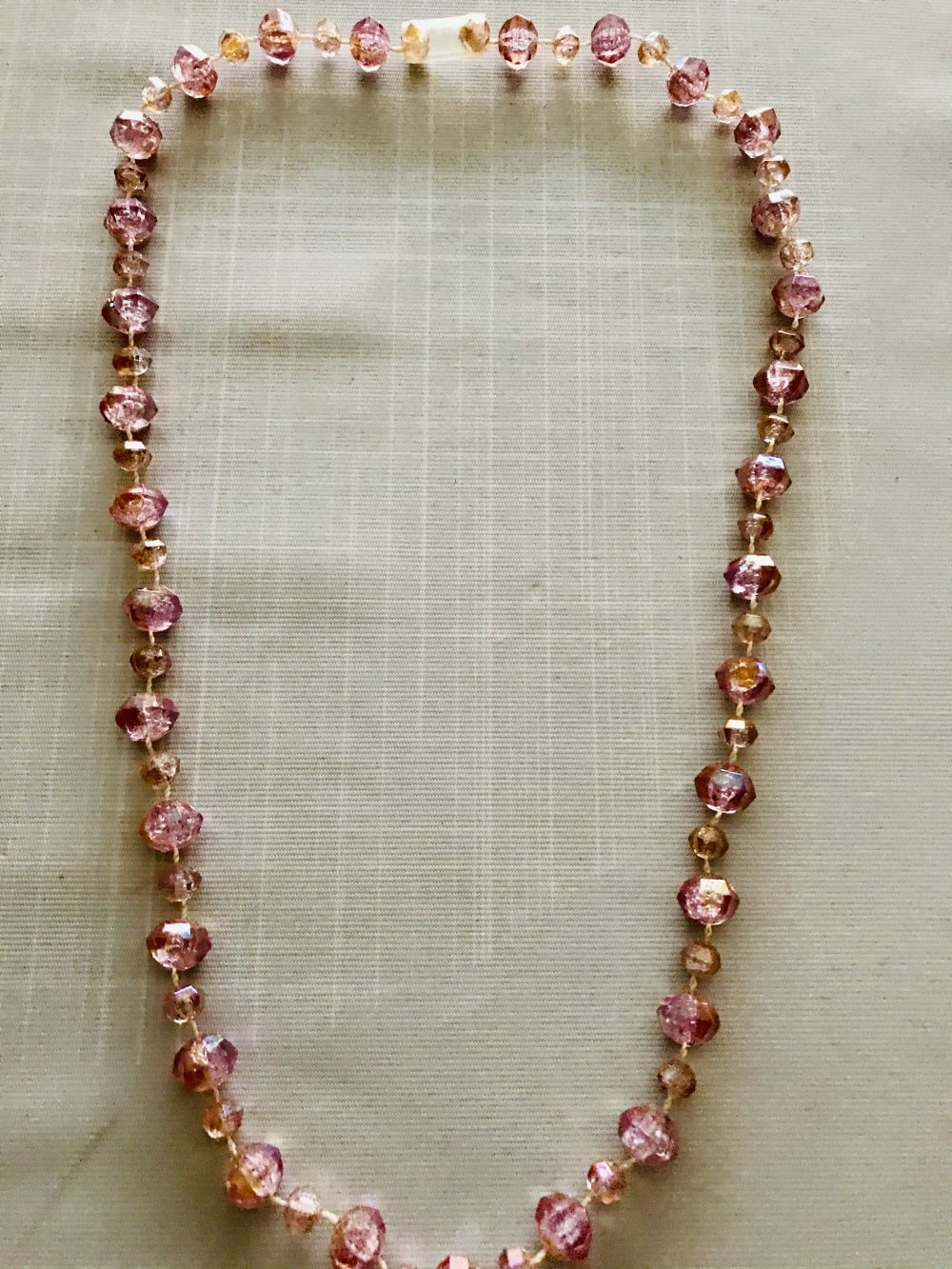 Collier perles rose girly