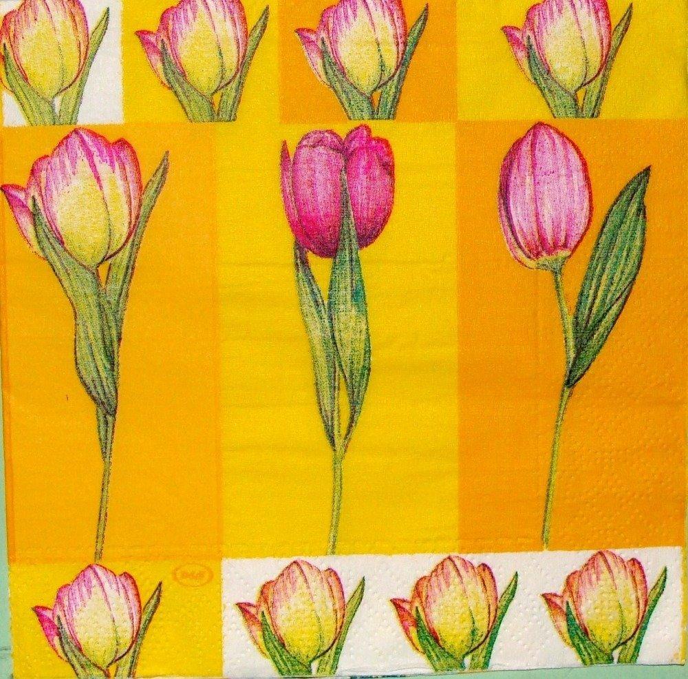 Serviette en papier PLA027 Tulipes