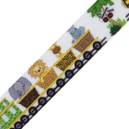 Ruban gros grain motifs Safari