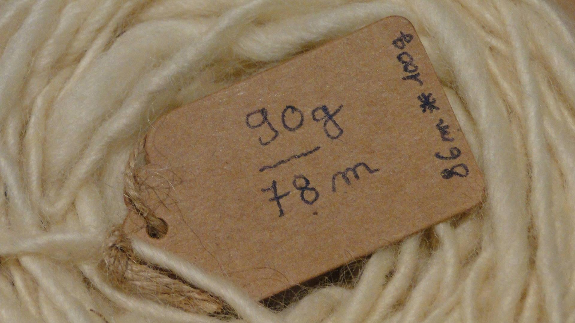laine naturelle écrue filée main