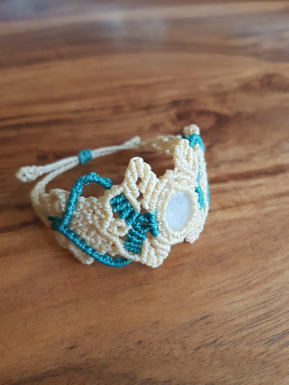 Bracelet Pierre de lune arc-en-ciel