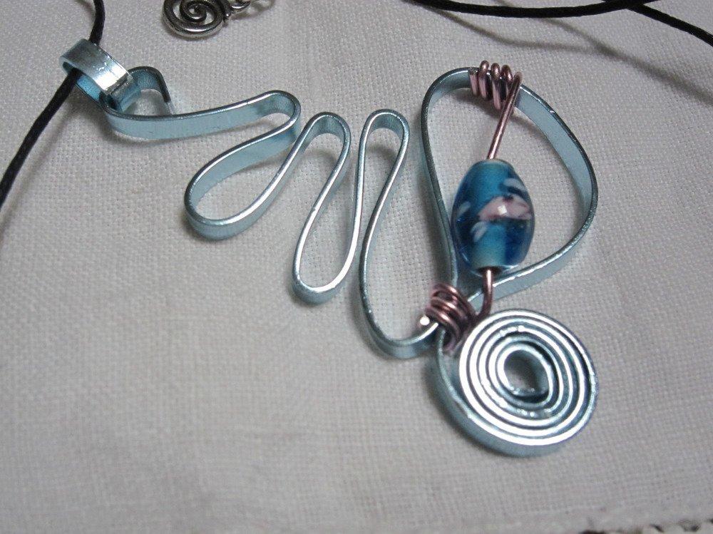 Collier métal turquoise