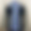 Echarpe  en alpaga et soie - bleu jean
