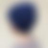 Bonnet bleu violet en laine et alpaga _ taille l