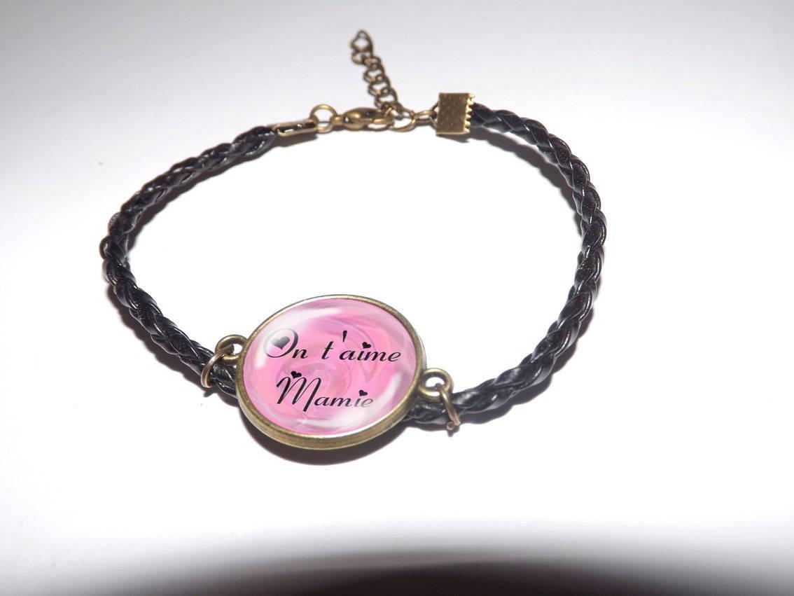 Fille peut Beach Glass Cabochon Bracelet Tressé Bracelet En Cuir Bracelets
