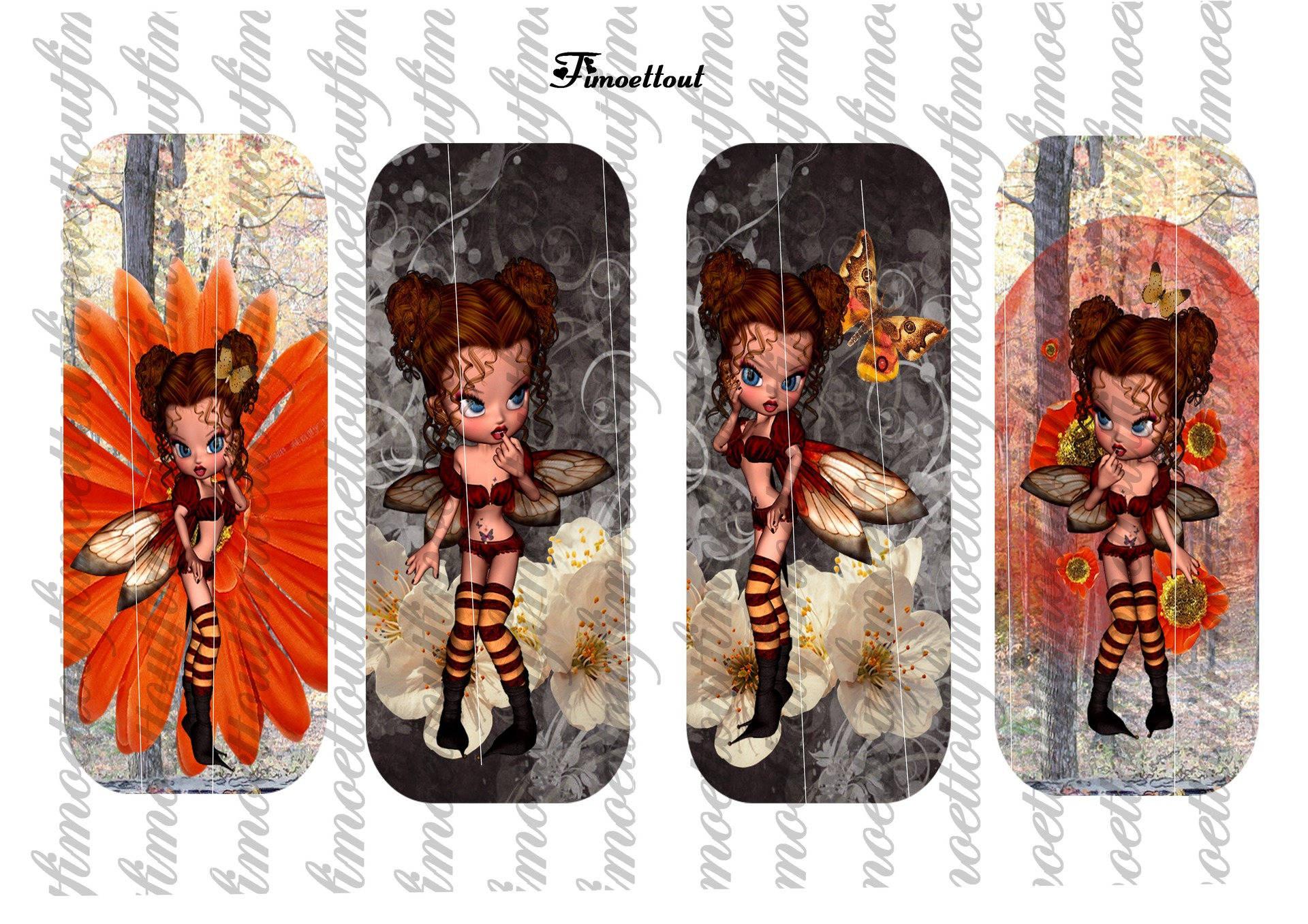 4 marques page digitale  miss papillon (envoi par mail)