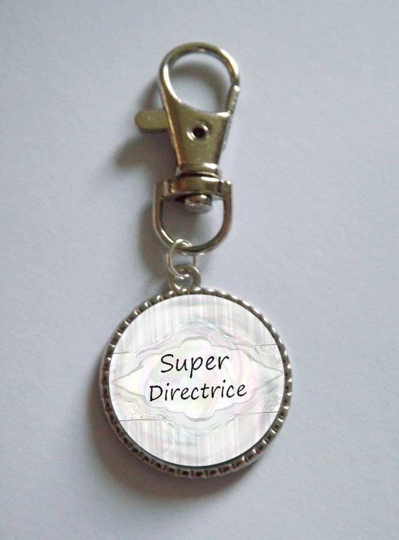 porte clé simple * super directrice* personnalisable