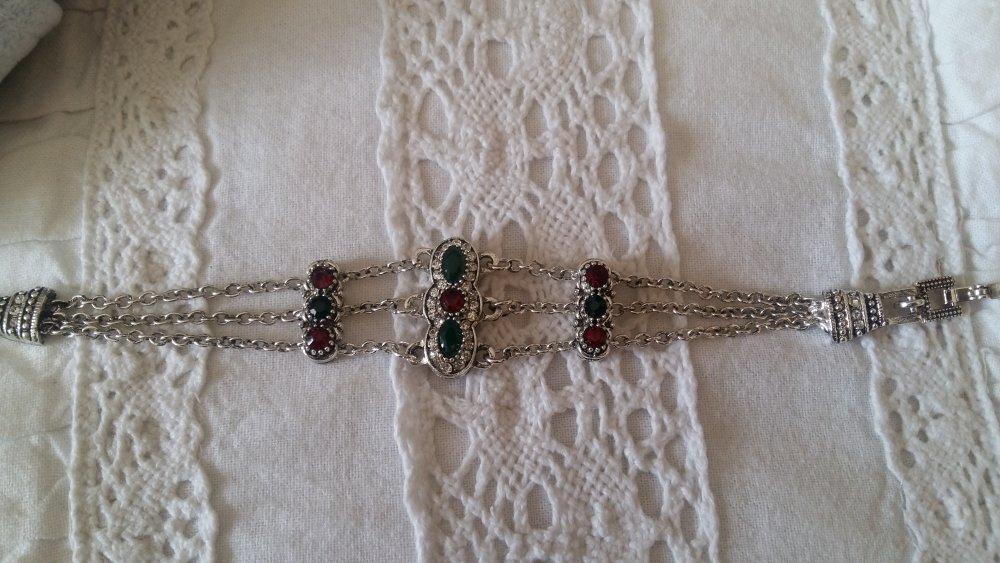 Bracelet perles et strass