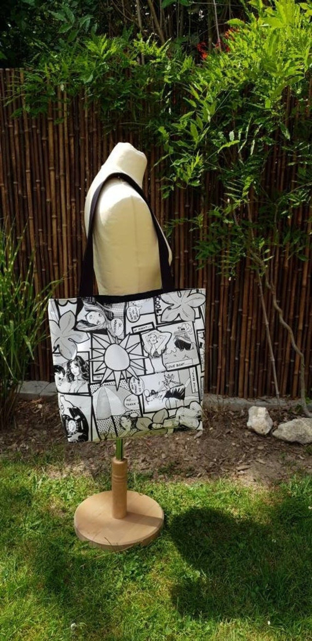 Sac cabas , sac plage - bd, comics - sac en coton enduit