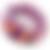 Bracelet «confetti» tressé et brodé