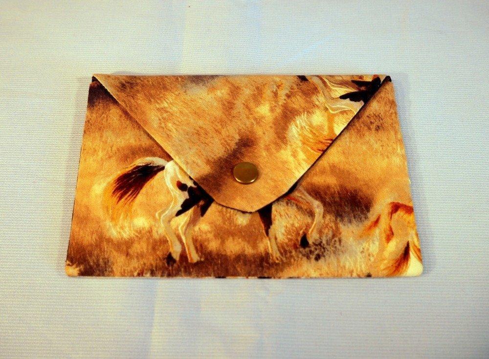 Pochette enveloppe - tissu cheval