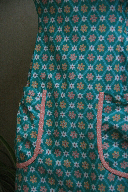 Robe en coton fleurie ajustable 38/40