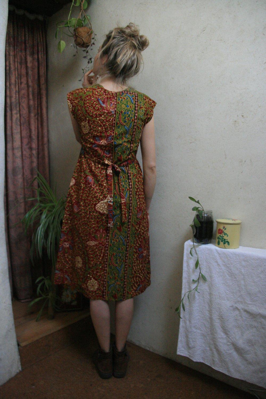 Robe en coton batik ajustable 36/38