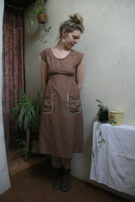 Robe en coton fleurie, taille 36/38