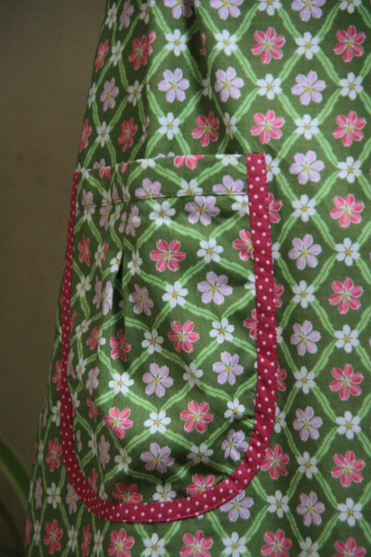 Robe en coton fleurie, taille 38/40