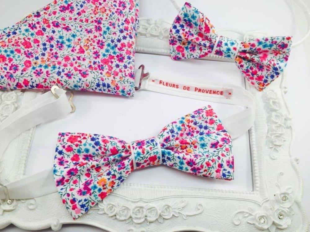 Bretelles en Tissu Liberty Phoebe blanc et rose - Homme