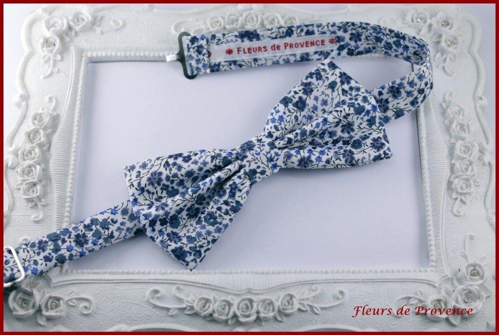 Noeud Papillon Tissu Liberty Phoebe bleu - Homme