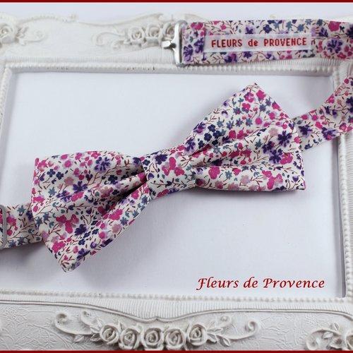 Noeud papillon tissu liberty phoebe violet - bébé