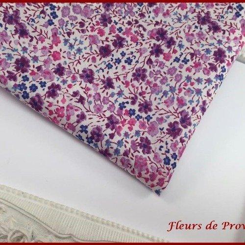 Pochette costume élégant tissu liberty phoebe violet