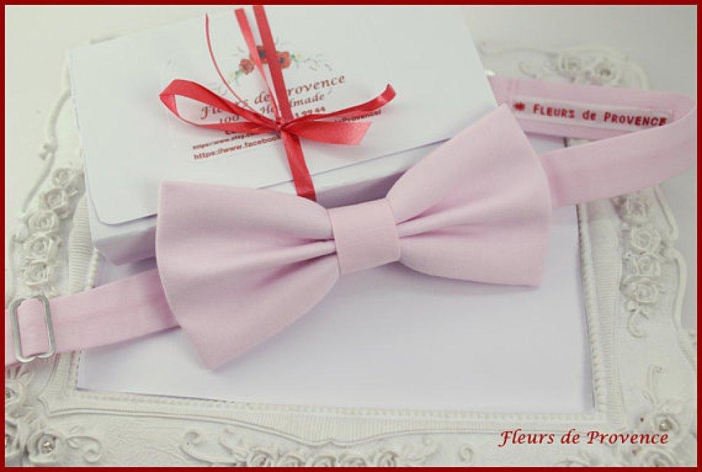 Noeud Papillon Tissu rose pâle - Homme