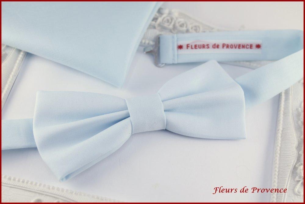 Cravate unie bleu poudré - Homme