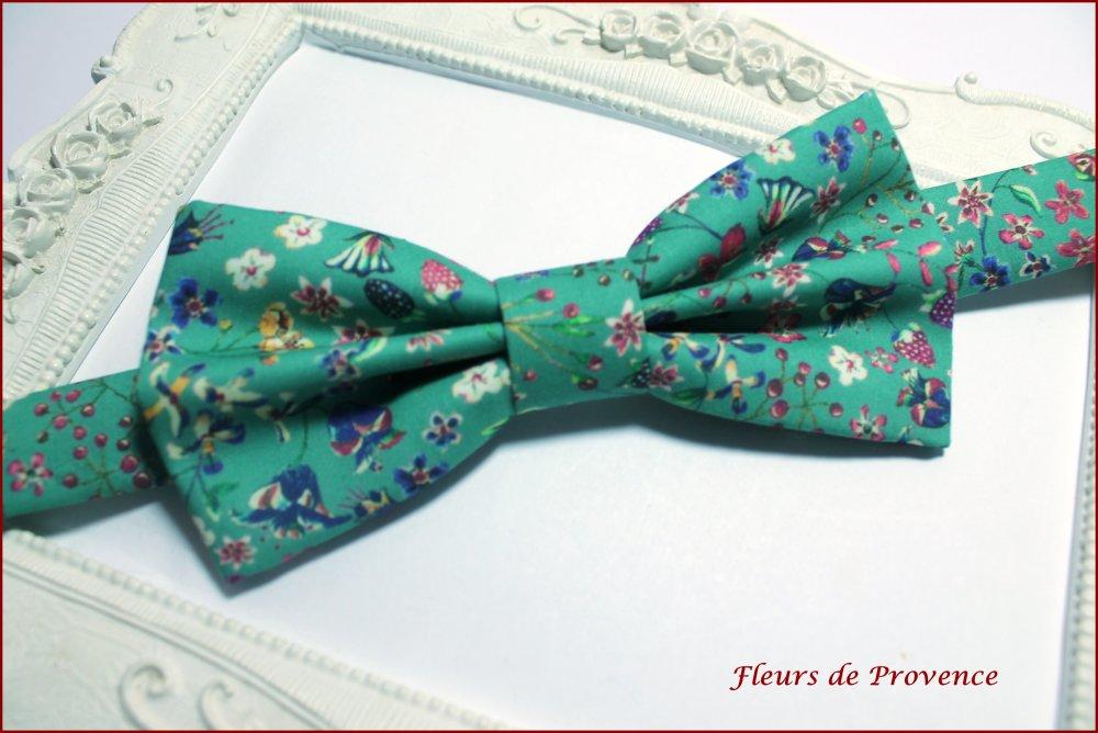 Set Noeud Papillon et Pochette costume Tissu Liberty Donna leigh Jade - Homme