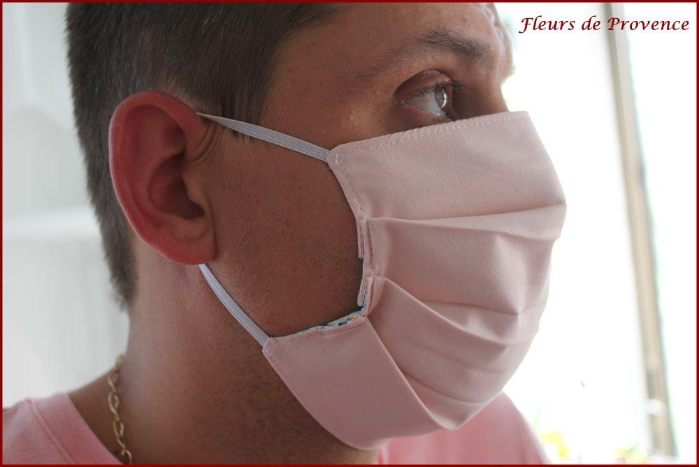 Masque de protection Tissu Liberty Betsy Rose Cupcake, lavable, réutilisable, tissu coton, réversible - adulte