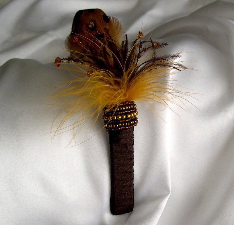 Serre-tête décorée de plumes et de perles, accessoires femme, coiffure, mariage, fête, cadeau,