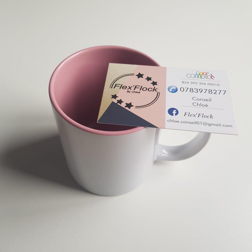 Mug intérieur rose à personnaliser ‼