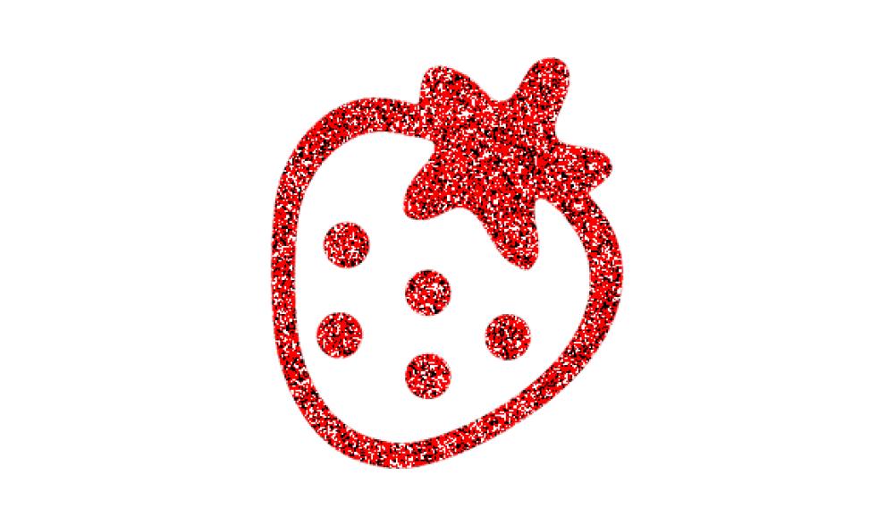appliqué thermocollant fraise kawaii grosses paillettes flex