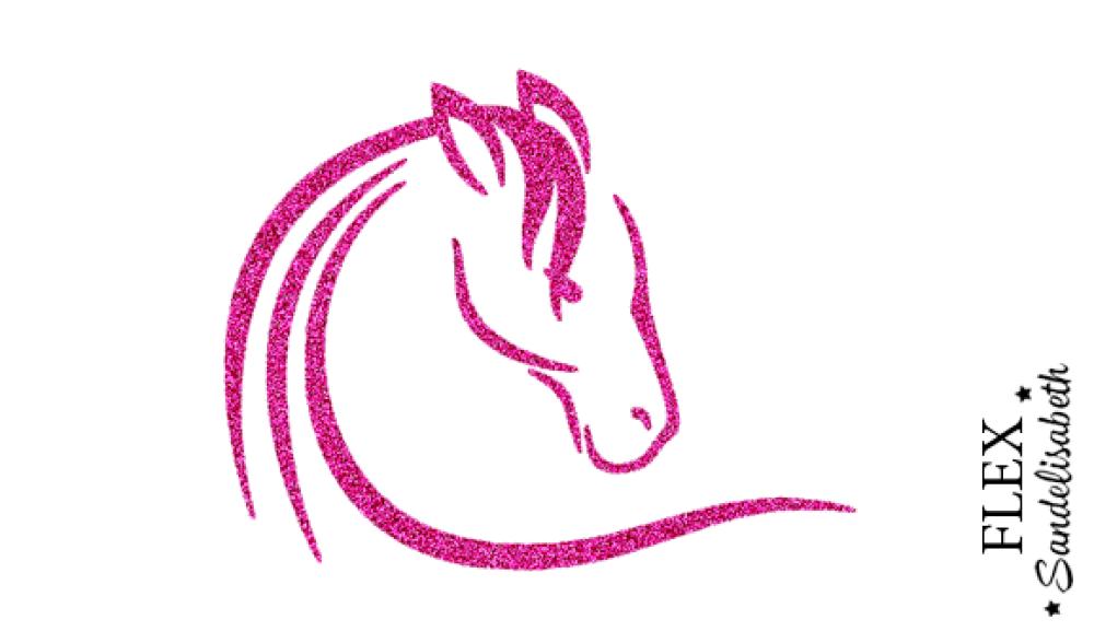 appliqué thermocollant cheval tête 2 flex couleur et dimension au choix
