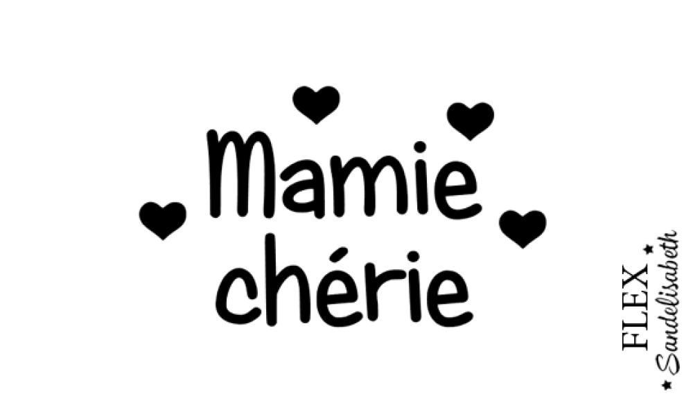 appliqué thermocollant Mamie chérie cœurs flex