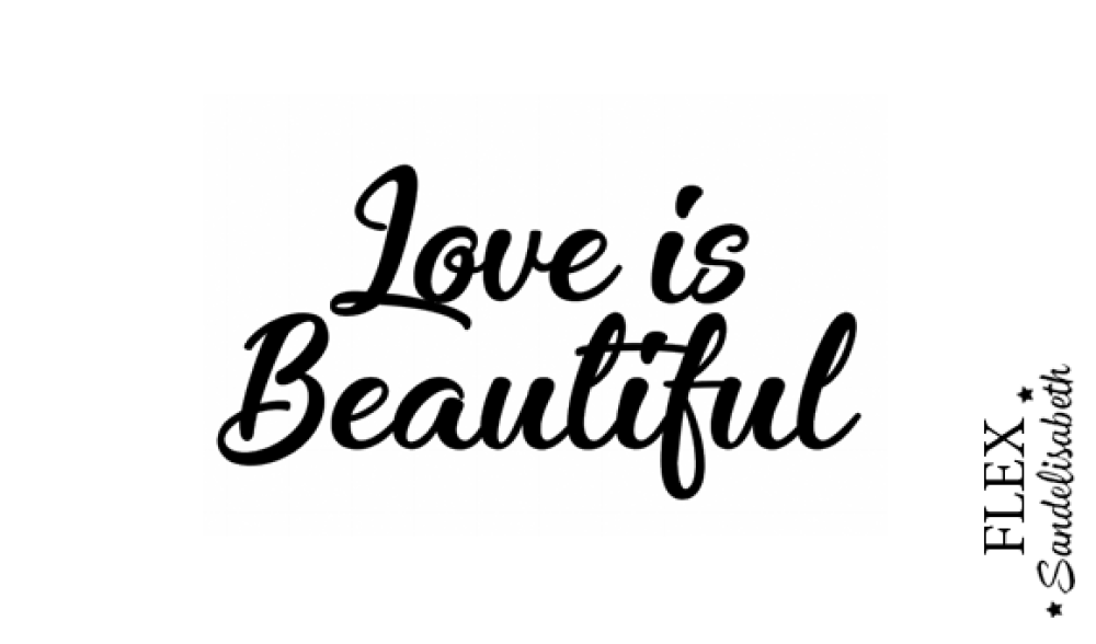appliqué thermocollant Love is beautiful flex 12 cm