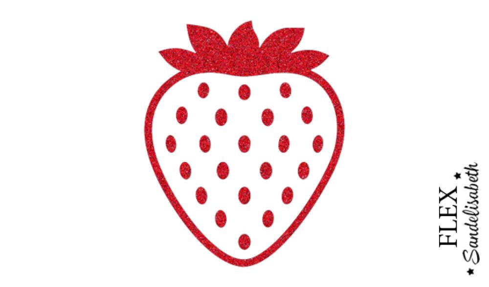 appliqué thermocollant fraise flex rouge pailleté
