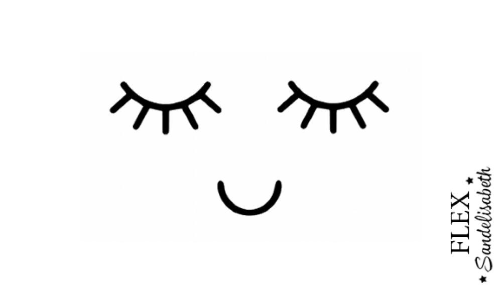 appliqué thermocollant cils yeux bouche kawaii flex modèle 2