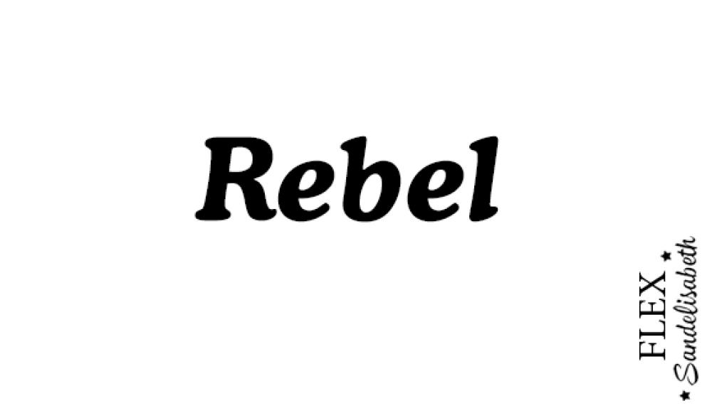appliqué thermocollant rebel flex