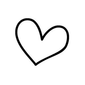 Flex 10cm coeur dessin - Un grand marché