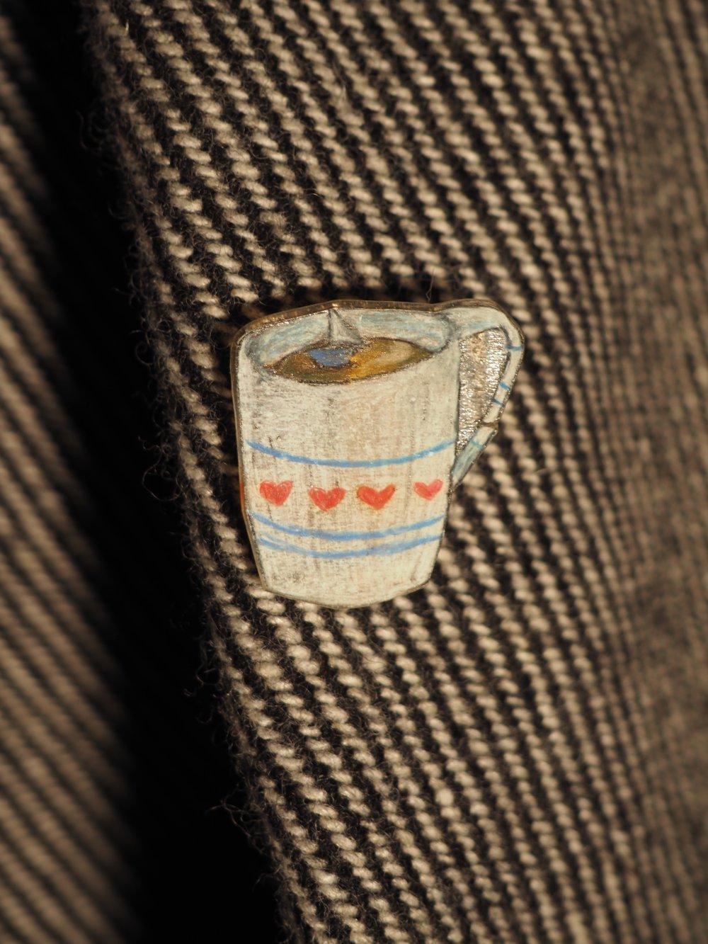 Tasse à café motif coeur